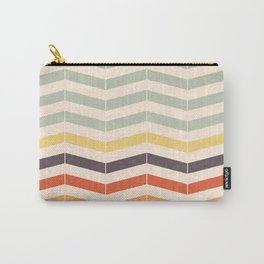 Vintage Chevron Carry-All Pouch