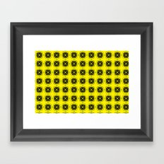 Yellow Custom Pattern Framed Art Print