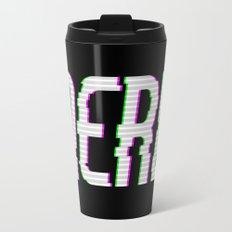 NERD GLITCH TEXT Travel Mug