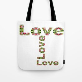 Typography Love Tote Bag