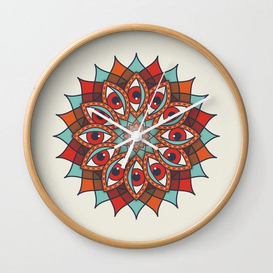 Bali Eyes 1 Wall Clock
