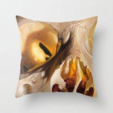 close up skull 2 Throw Pillow
