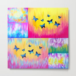 Rainbow Butterflies Metal Print
