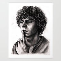 evan peters Art Prints featuring Evan Peters by Luna Perri