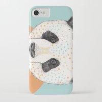 panda iPhone & iPod Cases featuring Polkadot Panda by Sandra Dieckmann