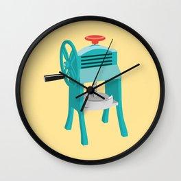 Ice Shaver Wall Clock