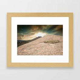 Mountain Big Rock Framed Art Print