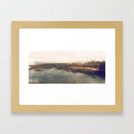 Lock & Dam No. 1 Panoramic Framed Art Print