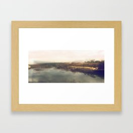 Lock & Dam No. 1 Panoramic Framed Art Print