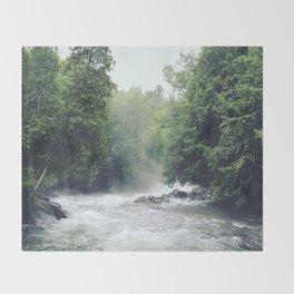 Raging River Throw Blanket