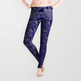 Mandala Royal - Blue & Silver Leggings