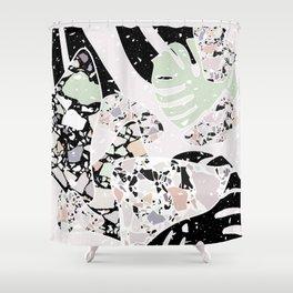 Abstract Terrazzo I. Shower Curtain