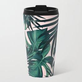 Tropical Jungle Leaves Pattern #5 #tropical #decor #art #society6 Metal Travel Mug