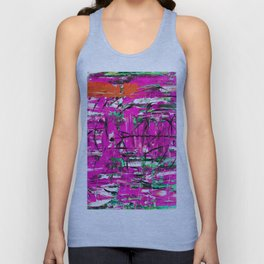 Abstract expressionism painting Unisex Tank Top