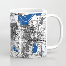 Kansas city mondrian map Coffee Mug