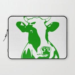 Animal Art Green Cow Laptop Sleeve