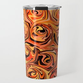 Honey Orange Fire Swirl Abstract Travel Mug