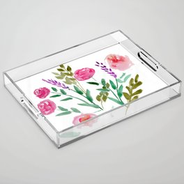 Country Bouquet Acrylic Tray
