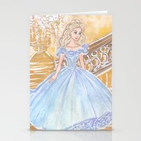 cinderella Stationery Cards featuring Cinderella by carotoki art and love