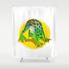 Yoga Downward Facing Frog Shower Curtain