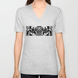 Dressed To Kill - White Tiger Art By Sharon Cummings Unisex V-Neck
