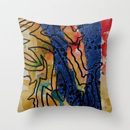 Wilder Borders: Slight Separation Throw Pillow
