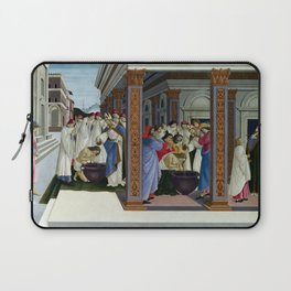 Sandro Botticelli Baptism of St Zenobius and His Appointment as Bishop Laptop Sleeve
