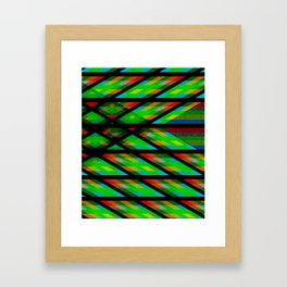 Geometric and abstract Framed Art Print