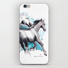 Horses (Mom&kid) iPhone Skin