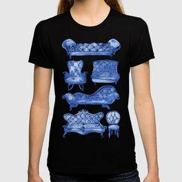 Victorian Lounge – Navy Palette T-shirt