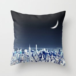 Spacing Out, NYC Throw Pillow