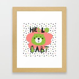 Hello Baby nursery boy and girl Framed Art Print