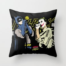 The Post-Punk Face-Off Throw Pillow