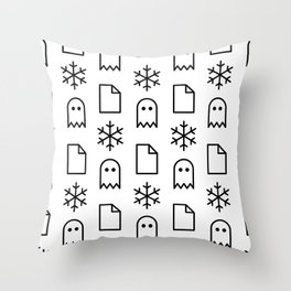 Paper, Snow, A Ghost. Throw Pillow