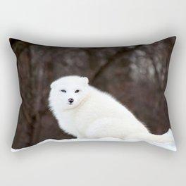 Arctic Fox Rectangular Pillow