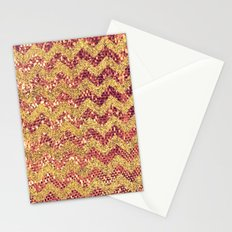 ROSE GOLD CHEVRON - for iphone Stationery Cards