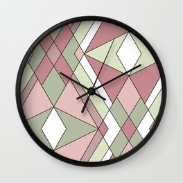 Abstraction. Pistachios. Wall Clock