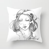 narwhal Throw Pillows featuring Narwhal by Mortimer Sparrow
