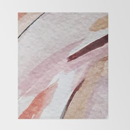 Away [2]: an abstract mixed media piece in pinks and reds Throw Blanket