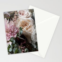 Large floral bouquet - Dahlia and Rose I Stationery Cards