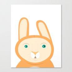 Tangerine Bunny Canvas Print