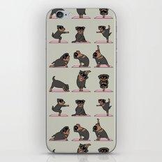 Rottweiler Yoga iPhone & iPod Skin