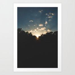 A Texas Hill Country Sunset Art Print