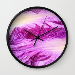 Purple Cabbage Beautiful Abstract Patterns By Nature Wall Clock