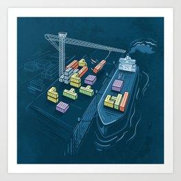 Game Port Art Print