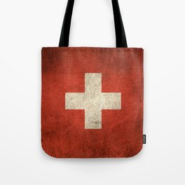 Old and Worn Distressed Vintage Flag of Switzerland Tote Bag