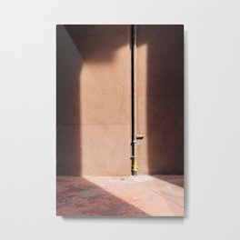 Gallaratese ᝢ Milano Italy travel photography art ᝢ shadow pink architectural photo print Europe Metal Print