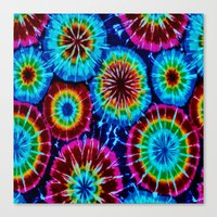 tie dye Canvas Prints featuring Tie Dye by gypsykissphotography
