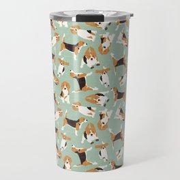 beagle scatter mint Travel Mug