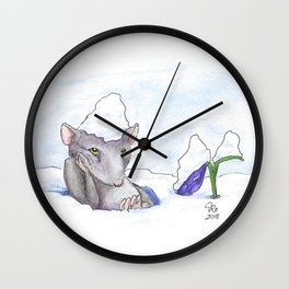 First Day of Spring Wall Clock